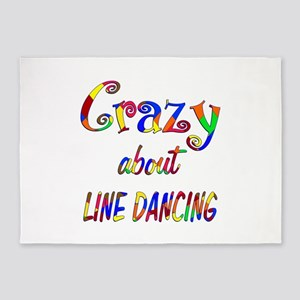 Crazy About Line Dancing 5'x7'Area Rug